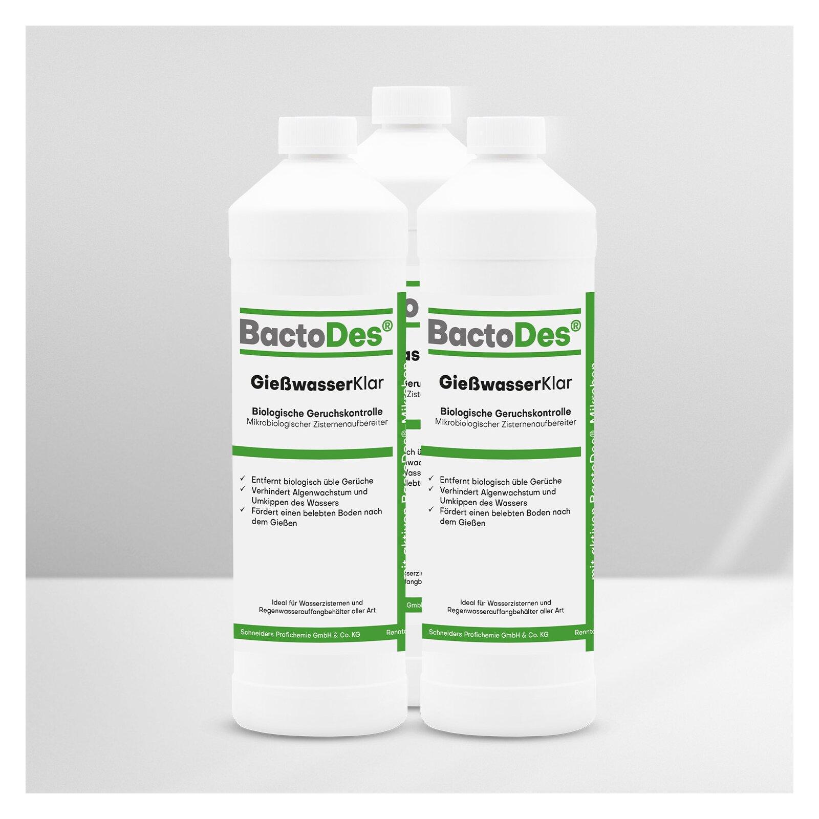 BactoDes(R) GießwasserKlar 3 x 1 Liter