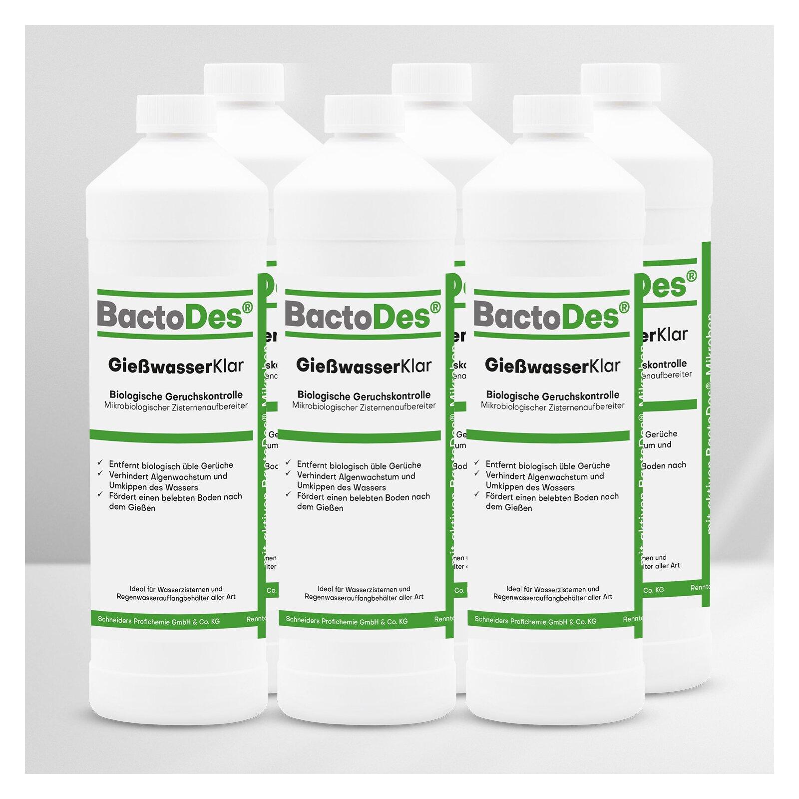 BactoDes(R) GiesswasserKlar 6 x 1 Liter