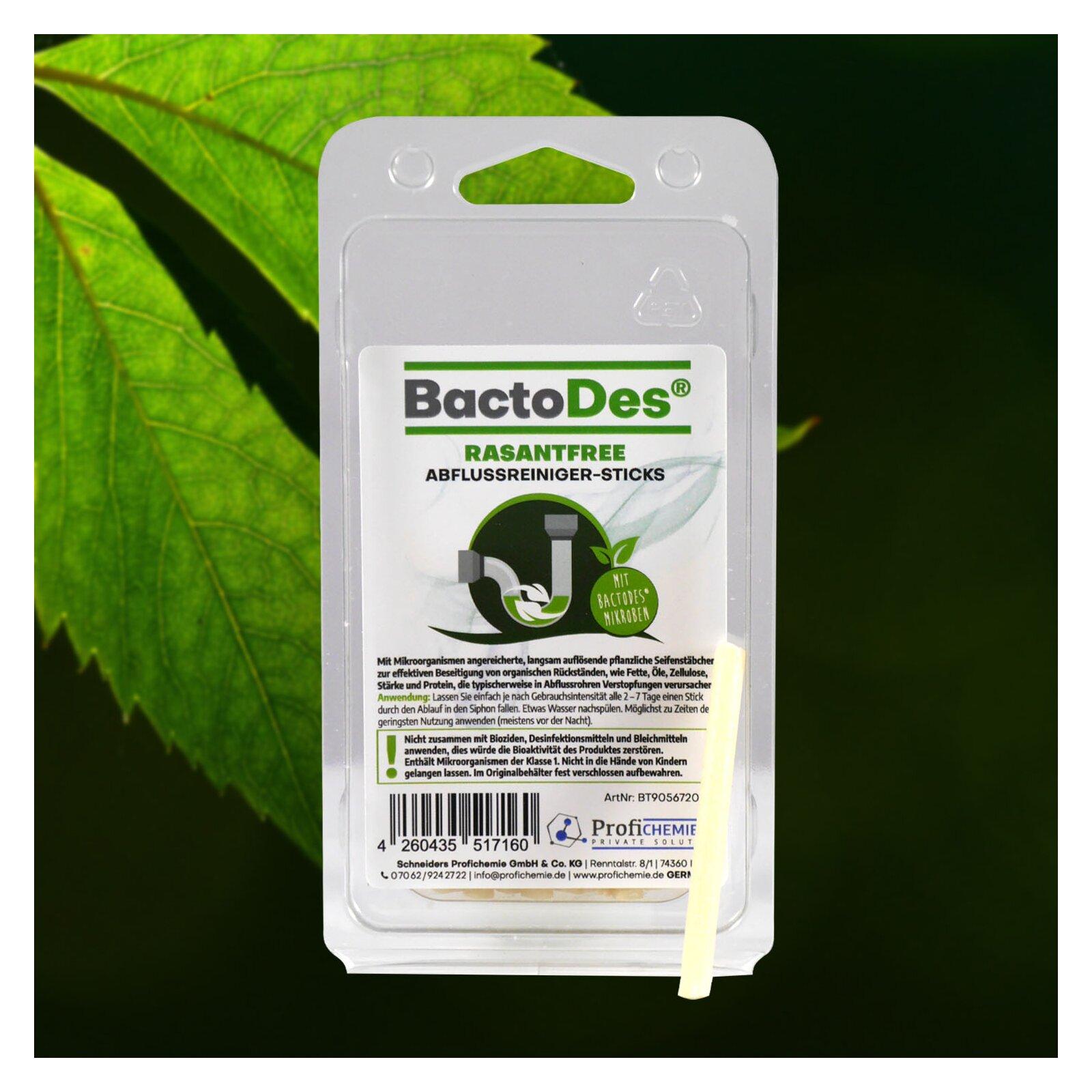 BactoDes(R) RasantFree AbflussreinigerSTICKS 1 Pack mit 20 Sticks