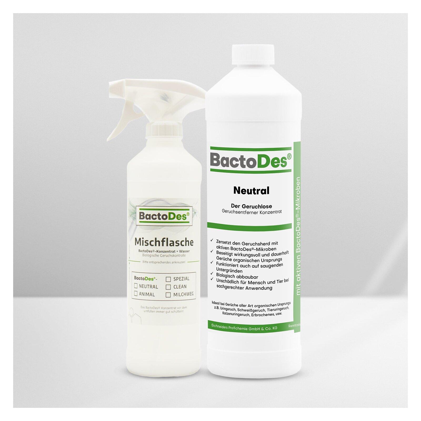 BactoDesNeutral Geruchskiller und Geruchsneutralisierer ohne Parfümierung