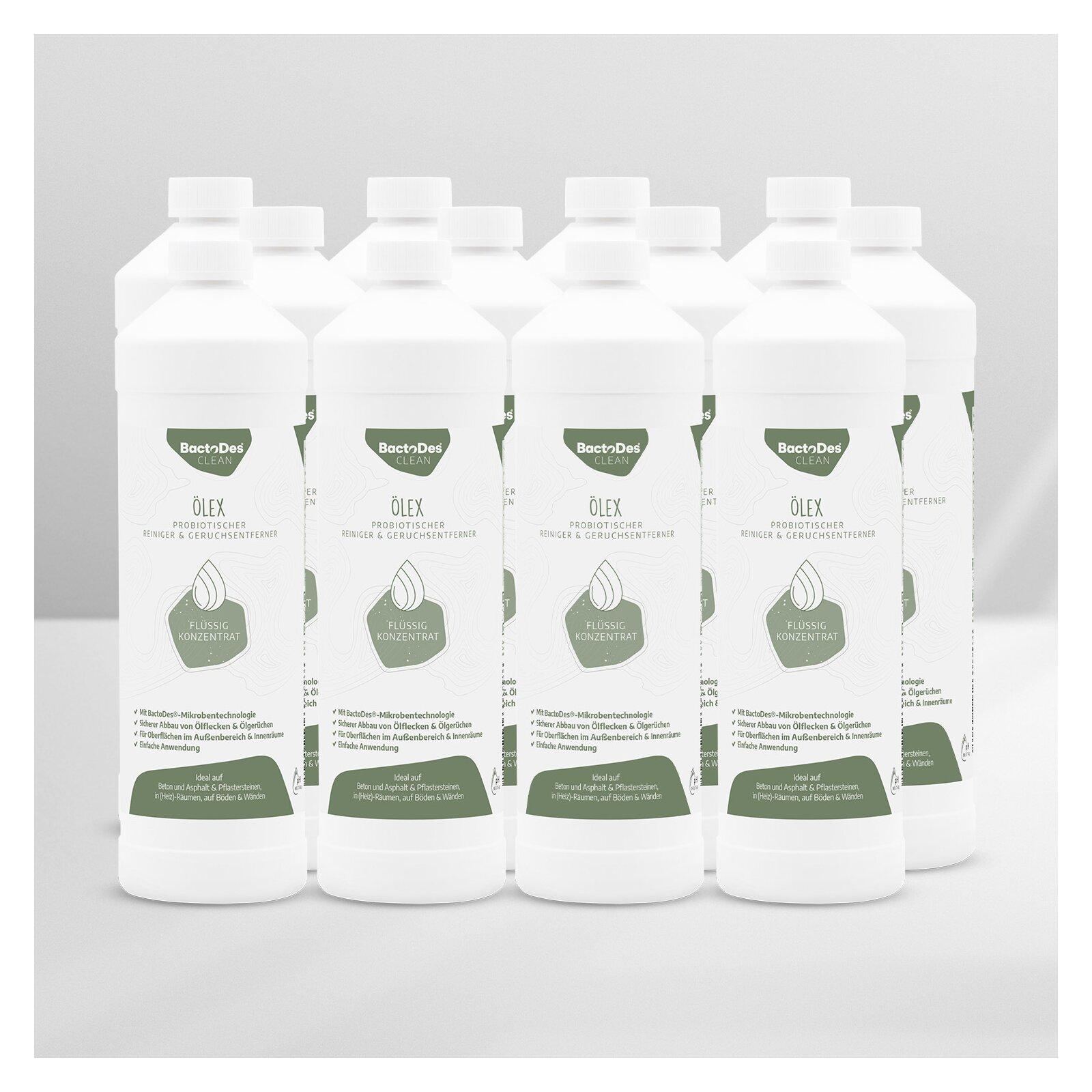 BactoDesÖlex Geruchsentferner von Heizölgeruch und Ölfleckenentferner 12 x 1 Liter Karton
