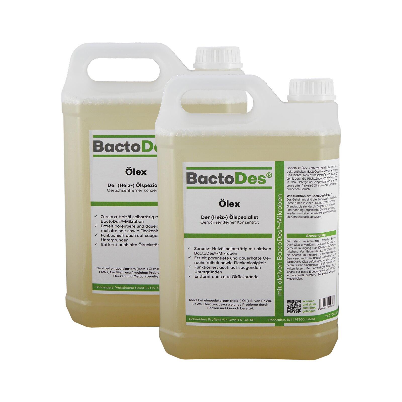 BactoDesÖlex Geruchsvernichter von Heizölgeruch und Ölfleckenentferner 10L