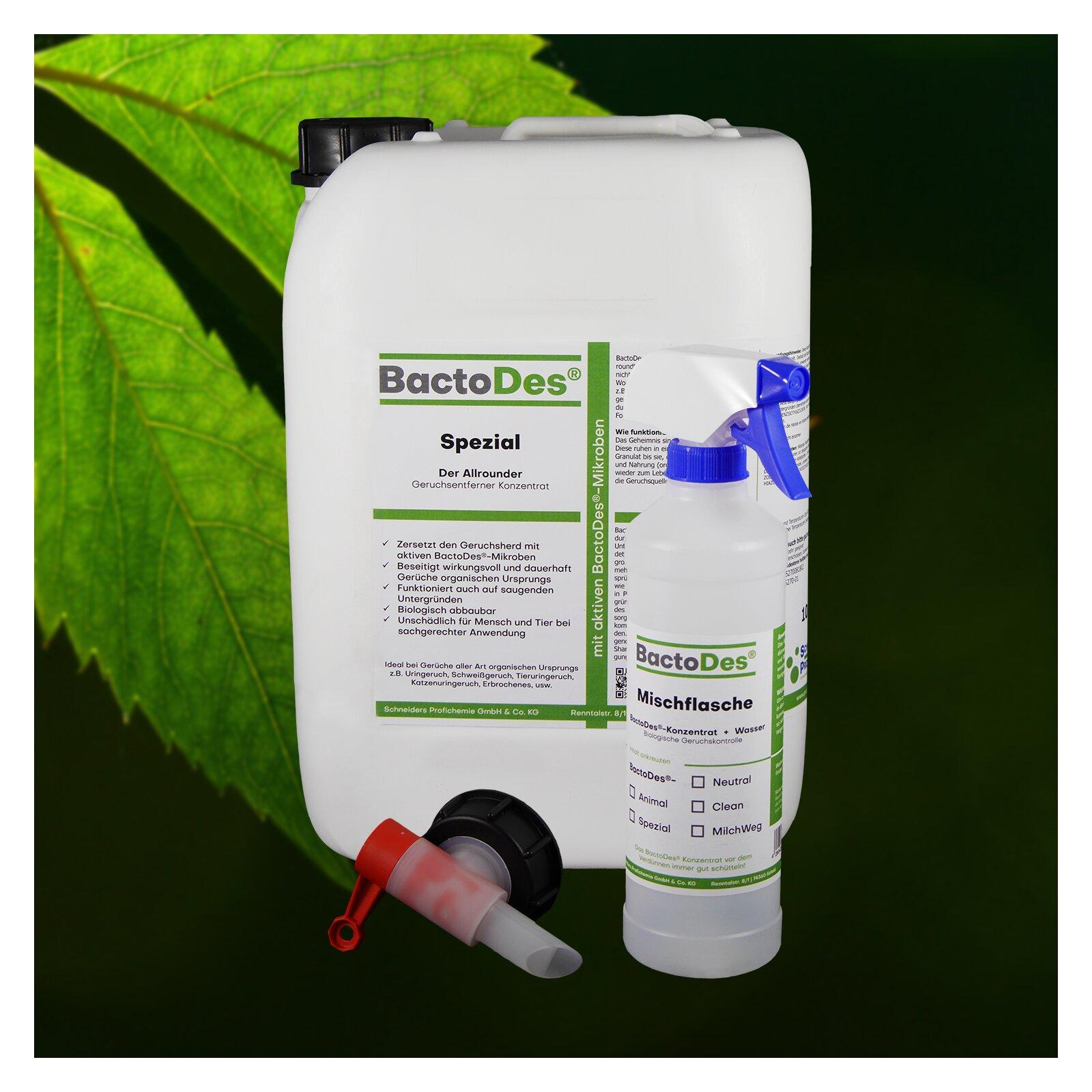 BactoDesSpezial Geruchskiller 10 L Kanister incl1 Misch und Sprühflasche