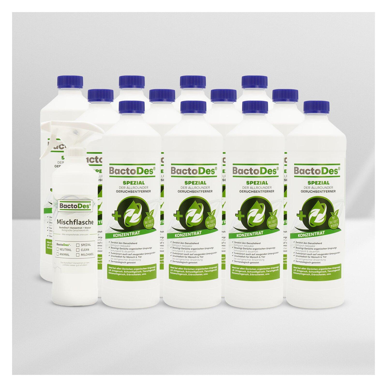 BactoDesSpezial Geruchskiller 12x1L Karton incl1 Misch und Sprühflasche