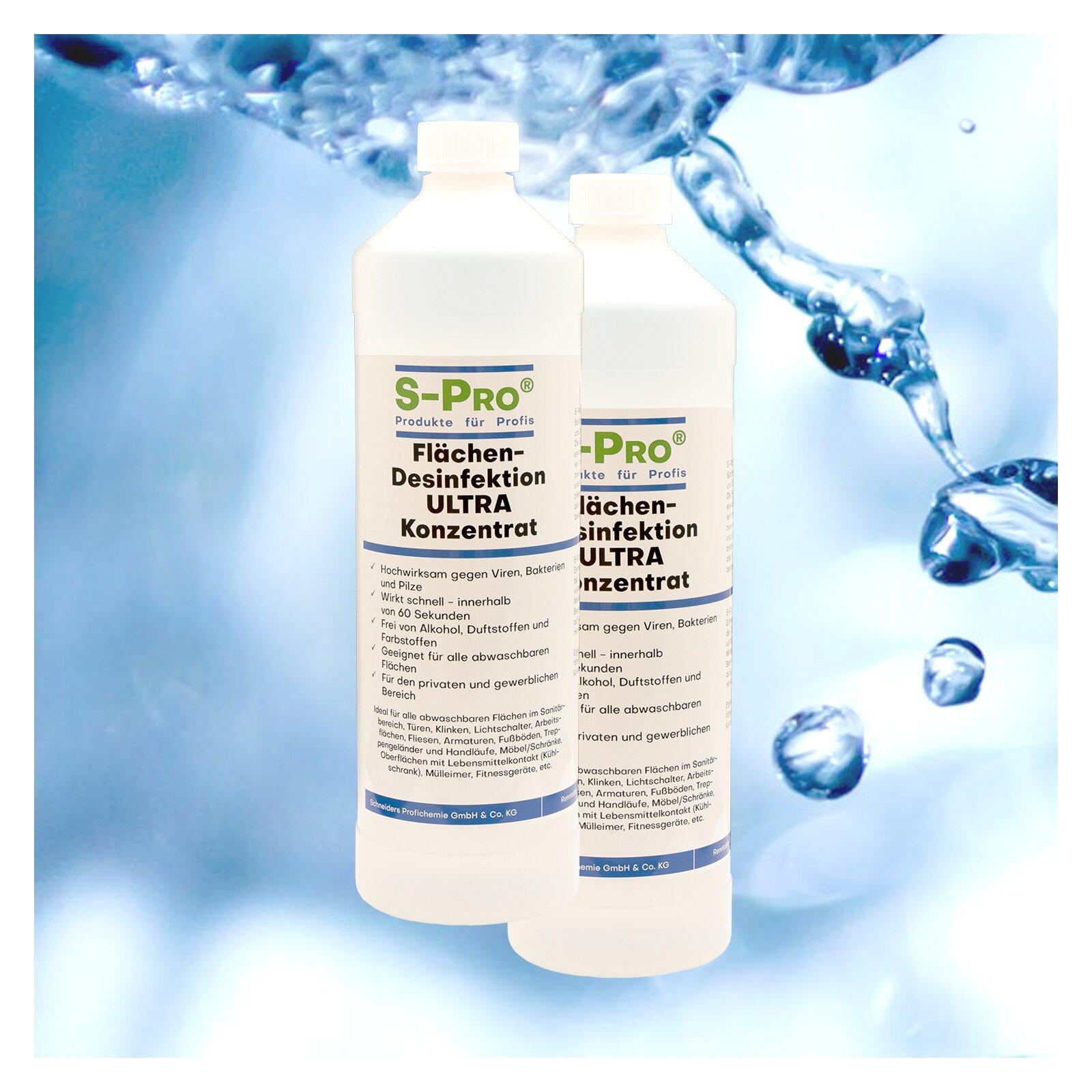 SPro Flächendesinfektion ULTRA Konzentrat 2 x 1 Liter Flasche