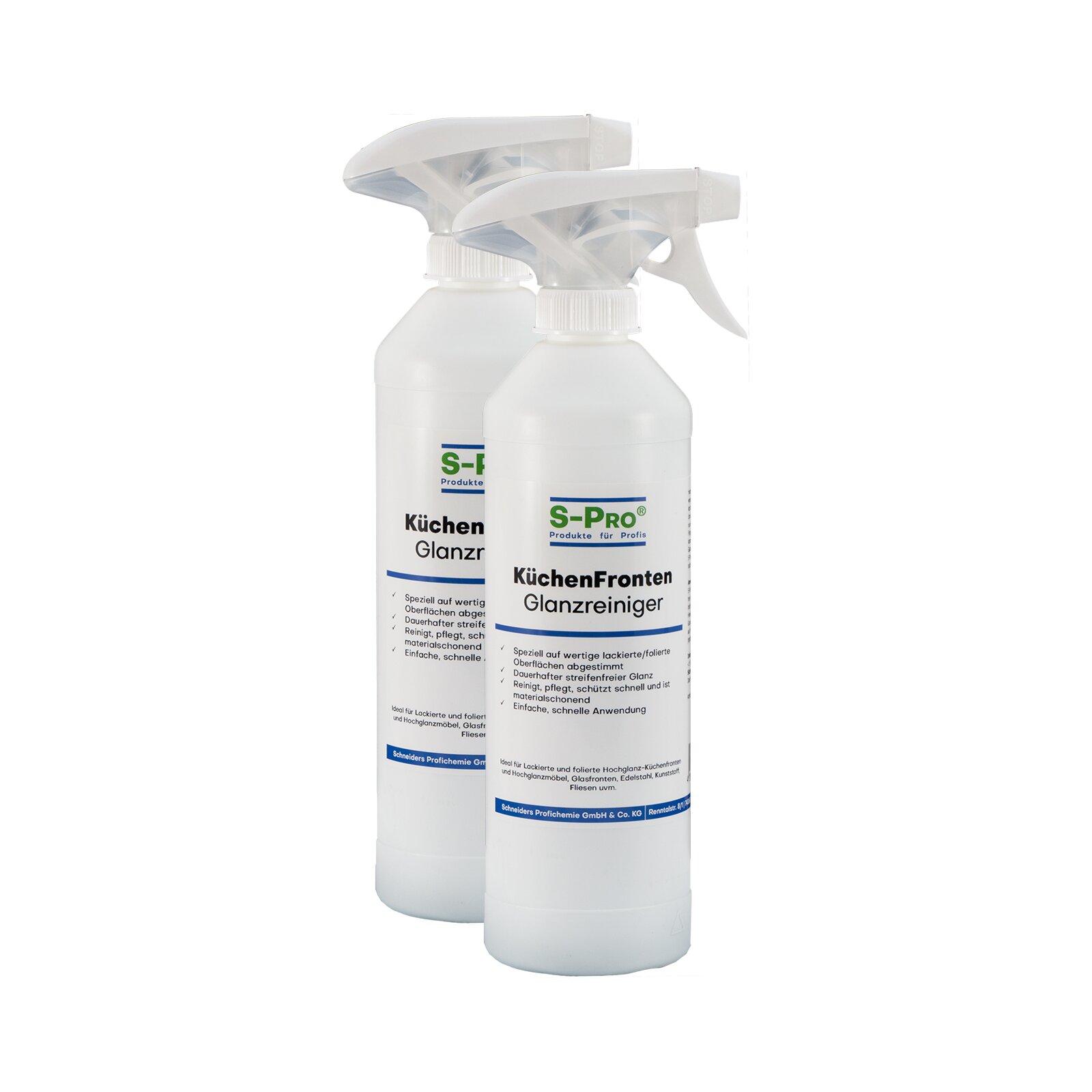 SPro KüchenFrontenGlanzreiniger 2x500ml Flasche mit Sprüher